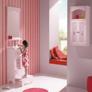 Fascinating-Kids-Bathroom-Design-Ideas-with-Colorful-Wallpaper