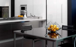 Modern-kitchen-interior-with-small-table