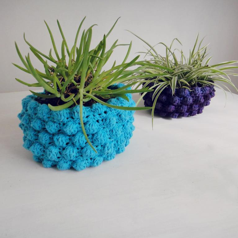 crochet flower pots
